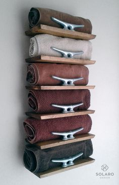 10 Incredible and Pratic DIY for Towel Storage Ideas