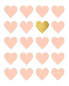 Pink and Gold Hearts