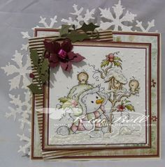 The most beautiful Christmas cards that I have ever seen - each one made with such care and love.