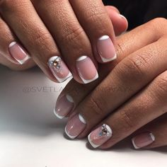 Beige and white nails, Exquisite french manicure, Exquisite nails, Festive…