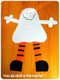 A Cupcake for the Teacher: The Big Pumpkin Reveal and Halloween Stuff halloween craftivity Halloween Theme Preschool, Theme Halloween, Halloween Crafts For Kids, Halloween Activities, Halloween Projects, Holiday Crafts, Halloween Stuff, Toddler Halloween, Halloween Ghosts