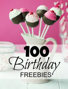 Are you ready for an AWESOME List of Birthday Freebies! You can get Free Stuff on your Birthday every year just by signing up for Newsletters from your favorite brands and restaurants!