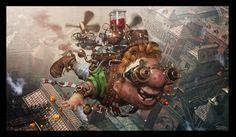 Karlsson is back! by Dmitriy Filippov | Cartoon | 3D | CGSociety