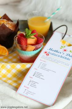 Sweet Mother's Day Breakfast in Bed Ideas! #ad #mychinet #mothersday #mothersdayideas #diy