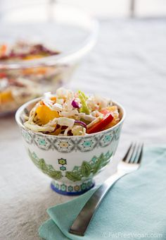 Orange-Sesame Coleslaw. Here's your coleslaw to go along with your sandwich.