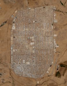 The Zaatari Refugee Camp was constructed in Mafraq, Jordan and opened in July 2012 to host refugees fleeing the ongoing civil war in Syria. The most recent population estimate counted 83,000 people at the camp.