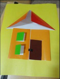 House craft idea for kids crafts and worksheets for preschoo Paper Crafts For Kids, Diy Arts And Crafts, Crafts For Teens, Home Crafts, Home Themes, Family Theme, Art N Craft, Kids House, Craft House