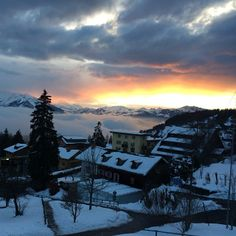 One of the amazing sunsets at Aiglon College, Switzerland.