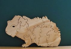 Guinea Pig Wood Puzzle Cut On Scroll Saw