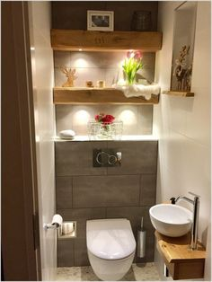 Bathroom Cabinets Behind toilet . Bathroom Cabinets Behind toilet . Small Toilet Decor, Small Downstairs Toilet, Small Toilet Room, Very Small Bathroom, Downstairs Bathroom, Bathroom Design Small, Bathroom Layout, Bathroom Designs, Small Toilet Design