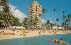 Waikiki Circle Hotel postcard Hawaii 1960s by hmdavid, via Flickr. This is where I stay while in Waikiki. Totally renovated, amazing location!