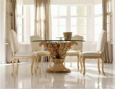 Esszimmer Dekoration Mit Stil   Esszimmer Dekoration Gold Ornamenten  Tischsockel
