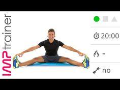 Esercizi Di Stretching Per Gambe, Schiena e Bacino (20 minuti) - YouTube