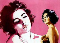 Elizabeth Taylor - Original poster art for Butterfield 8(1960)