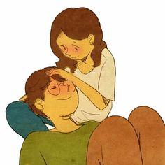 Me encanta rascarte tu cabeza y acariciarte.♥