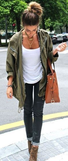 #fall #fashion / military jacket