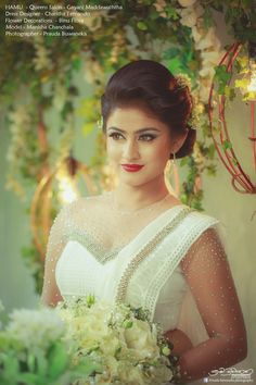 Bridal Sari, Wedding Sari, Wedding Dresses, Sri Lankan Bride, Christian Bride, Bridesmaid Saree, Sari Design, Engagement Dresses, Saree Dress