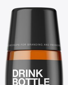 Clear Bottle With Soft Drink Mockup Close-Up