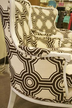 Uber-glam chairs at http://www.chartreuseandco.com/tagsale.html