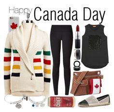 """HAPPY CANADA DAY!"" by amandamallie on Polyvore featuring Casetify, LogoArt, lululemon, Hudson's Bay Company, MAC Cosmetics, Joe Fresh, ALDO and Alex and Ani"