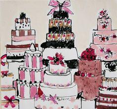 wedding cakes drawing