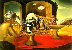 El mercado de esclavos y el busto de Voltaire que desaparece de 1940 Dalí da curso a las fuerzas alucinatorias mediante el recurso de las imágenes dobles