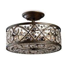 product image for ELK Lighting Amherst 4-Light Semi-Flush in Antique Bronze $478