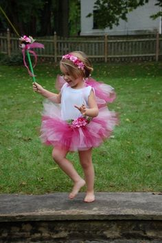 Pink Flower Fairy Costume by MysticMoor on Etsy, $40.00