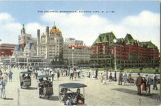 The Boardwalk at Park Place is one of the picturesque spots on Absecon Island. Rolling along in a comfortable rolling chair away from city noises, hustle and... Jersey Girl, New Jersey, Margate Nj, Jewel Of The Seas, Vacation Days, Asbury Park, Seaside Towns, Atlantic City, Old Pictures