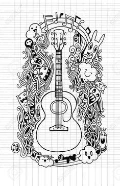 10 Mejores Imágenes De Dibujos De Guitarras En 2018 Dibujos A