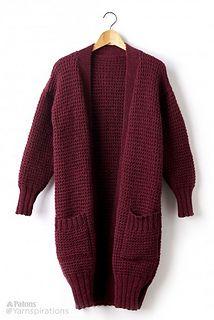 Ravelry: Long Weekend Cardigan pattern by Yarnspirations Design Studio Knitting Patterns Free, Knit Patterns, Free Knitting, Free Pattern, Sweater Patterns, Knitting Tutorials, Loom Knitting, Knitting Ideas, Knitting Projects
