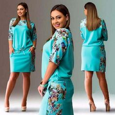 Cheap summer dress big size, Buy Quality summer dress directly from China dresses big sizes Suppliers: Summer Dresses Big Size 2017 Fashion Elegant Women Half-Sleeve Print Dress Plus Size Casual Robe Office Dress Vestidos Outfits Plus Size, Plus Size Womens Clothing, Plus Size Fashion, Clothes For Women, Size Clothing, Vestidos Plus Size, Mini Vestidos, Dress Plus Size, Straight Dress
