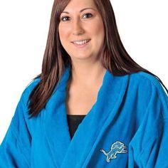 NFL Detroit Lions Blue 100% Cotton Bath Robe