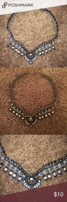 Topshop Blue Statement Necklace Worn a few times. Great condition Topshop Jewelry Necklaces