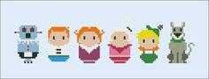 (inspiration) The Jetsons parody Cross stitch PDF pattern by cloudsfactory ▶