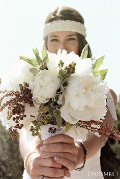 { MissMrs } mucho más que una boda: #ramo #novia #blanco