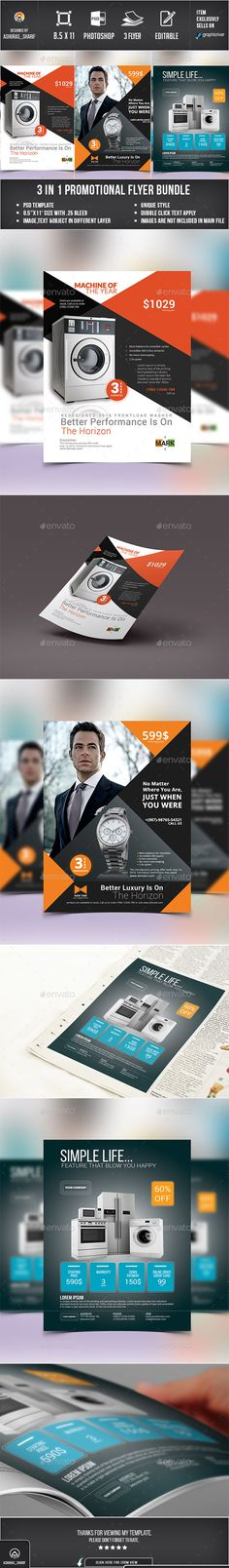 Product Promotional Flyer Bundle Template #flyertemplate Buy and  Download: http://graphicriver.net/item/product-promotional-flyer-bundle-01/12142720?ref=ksioks