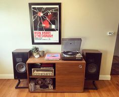 """analogrecordshop:  """"Loving this system! Marantz 6100 turntable, Sansui G-5700 stereo receiver, Tandberg reel to reel and a pair of ADS Loudspeakers.  •  •  •  #vintage #audio #hifi #audiophile #sansui #marantz #turntable #speakers #homedesign #design..."""