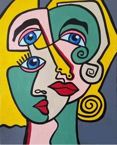 Art Picasso, Pablo Picasso, Famous Artists Paintings, Cubist Art, Abstract Face Art, 8th Grade Art, Protest Art, Dark Art Drawings, Psychedelic Art