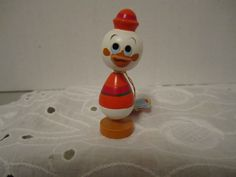 Vintage Disney Production Donald Huey Duck Kokeshi Wood Figurine Hand Painted