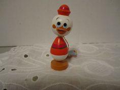 Vintage Disney Production Donald Huey Duck Kokeshi Wood Figurine Hand Painted