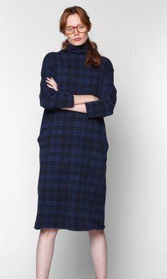 Semi Gloss NYC - Plaid Turtleneck Dress