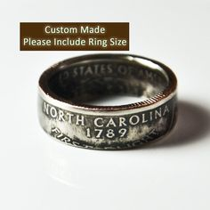 huge selection of a31d5 2bd91 North Carolina Quarter Ring by TheRingTree on Etsy,  29.50 Quarter Ring,  Coin Ring,