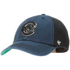c6530016b91 Chicago Cubs Navy and Midnight Blue Crawl Bear Logo Fitted Hat by 47 Brand   Chicago