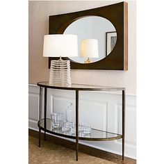 Clairemont Demilune Console Table in Coffee Tables & Side Tables | Crate and Barrel