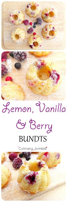 Gorgeous mini lemon and vanilla cakes filled with delicious berries!