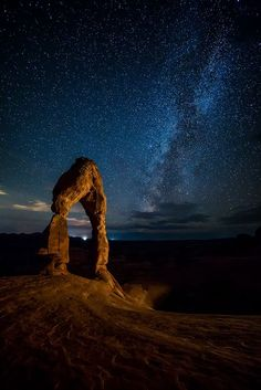 Delicate Arch, Moab, UT Photo by Mike Darter -- National Geographic Your Shot #night_photography #stars