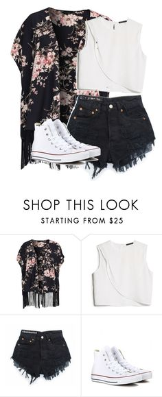 """Untitled #159"" by jainestyles-horanmalik ❤ liked on Polyvore featuring New Look, MANGO and Converse"
