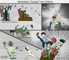 The Modern 'Games' of China (Illustration)