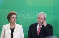 A presidente Dilma Rousseff e o ex-presidente Luiz Inácio Lula da Silva.